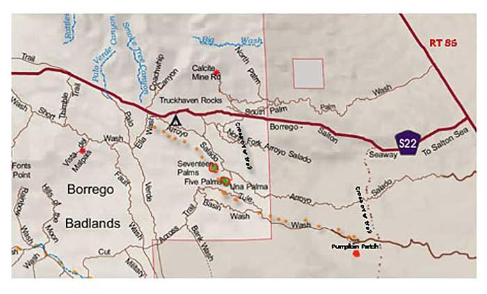 Arroyo Salado Map